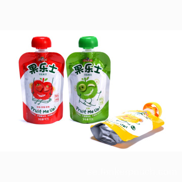 Custom Aluminium Foil Stand Up Liquid Spout Pouches